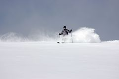 Powder skiing Stock Image