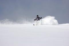 Powder skiing Stock Image