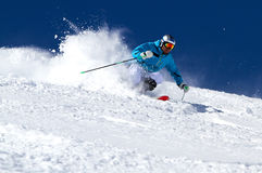 Powder skiing in Austria. Stock Photo