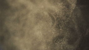 Powder in slow motion background stock footage