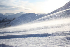Powder snow. In Norwegian mountains Royalty Free Stock Photography
