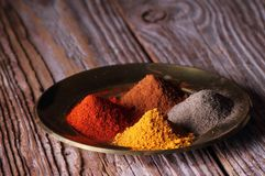 Powder spices on a plate Stock Photo