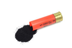 Powder spill out of the cartridge Stock Photography