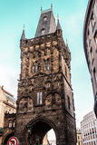 Powder Tower Gate at Prague, Czech Republic Royalty Free Stock Photography