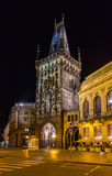 Powder Tower, a Gothic tower in Prague Stock Photo
