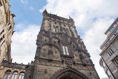 The Powder Tower and the Municipal Hall in Prague, capital of the Czech Republic. stock photography