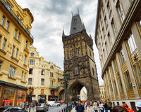 The Powder Tower (Powder Gate) in Prague Royalty Free Stock Photos