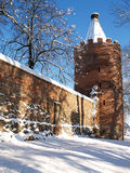 Powder Tower in winter Stock Image