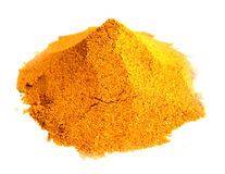 Powder turmeric. Over white background Royalty Free Stock Photography