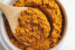 Powder turmeric Royalty Free Stock Images
