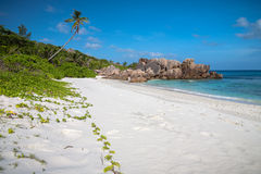 Powder White Sand On Tropical Beach Royalty Free Stock Images