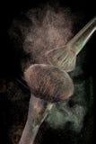 Powderbrushes e respingo do pó Fotos de Stock Royalty Free