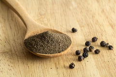Powdered black pepper Royalty Free Stock Images