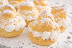 Powdered Cream Puffs stock images