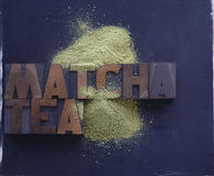 Powdered green tea Stock Image