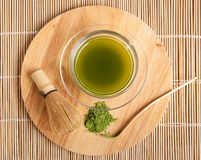 Powdered green tea Royalty Free Stock Images