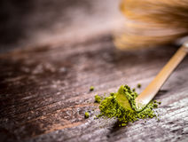 Powdered green tea Royalty Free Stock Photo