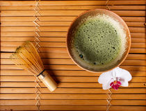 Powdered green tea Royalty Free Stock Photos