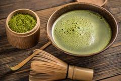 Powdered green tea Stock Photos