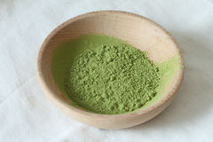 Powdered green tea Stock Photos