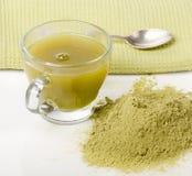 Powdered green tea Royalty Free Stock Image