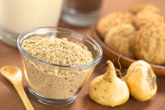 Powdered Maca stock images