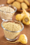 Powdered Maca or Peruvian Ginseng Royalty Free Stock Image