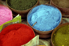 Powdered Paints. A Close Up of Powdered Paints on a Market Stall Royalty Free Stock Images