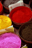 Powdered Paints. A Close Up of Powdered Paints on a Market Stall Stock Photography
