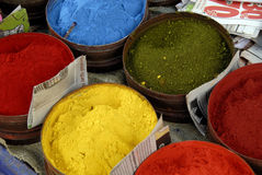 Powdered Paints. A Close Up of Powdered Paint on a Market Stall Royalty Free Stock Image