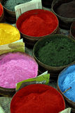 Powdered Paints. A Close Up of Powdered Paints on a Market Stall Royalty Free Stock Photo