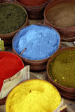 Powdered Paints. A Close Up of Powdered Paints on a Market Stall Stock Photos