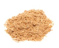 Powdered spice on white background Royalty Free Stock Photos