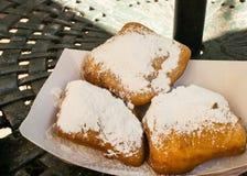 Powdered Sugar on Beignets Royalty Free Stock Image