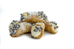 Powdered sugar canoli. Royalty Free Stock Image