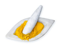 Powdered Turmeric Stock Photo