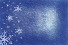 Powdery blue grungy snowflake background. Texture digital illustration light copy space Stock Photo