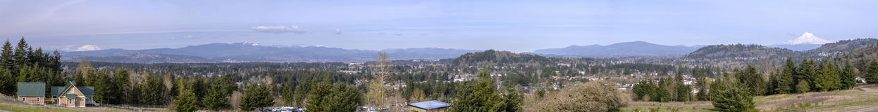 Powell Butte park panorama in Portland Oregon. Stock Photo