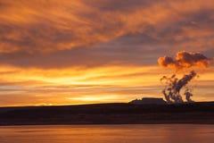 Powell Lake, Arizona at sunrise Stock Images