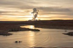 Powell Lake, Arizona at sunrise Stock Photos