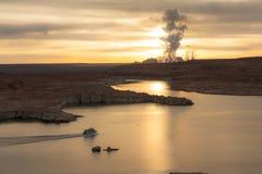 Powell Lake, Arizona at sunrise Royalty Free Stock Photo