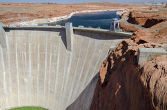 Powell Lake Dam Royalty-vrije Stock Foto