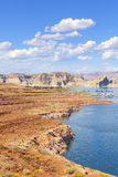 Powell Lake in Glen Canyon National Recreation Area, USA. Stock Images