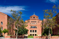 Powell Library on the campus of UCLA. LOS ANGELES, CA/USA - OCTOBER 4, 2014: Powell Library on the campus of UCLA. UCLA is a public research university located Stock Photos