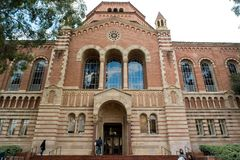 Powell Library at UCLA. Los Angeles, CA: February 21, 2017: Powell Library on the University of California, Los Angeles UCLA campus. UCLA is a public university Royalty Free Stock Images