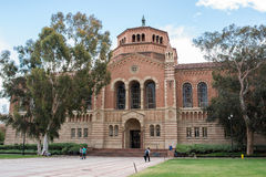 Powell Library at UCLA. LOS ANGELES, CA/USA - July 16, 2016: Powell Library on the University of California, Los Angeles UCLA campus. UCLA is a public university Royalty Free Stock Images