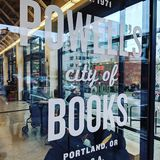 Powell& x27;s City of Books in Portland Oregon stock image