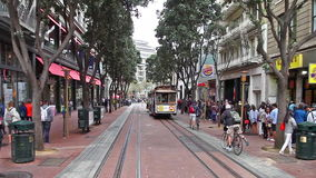 Powell Station Cable Car stock video footage