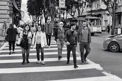 Powell-Straße, San Francisco, Vereinigte Staaten lizenzfreies stockbild