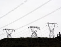 Power. Hydro towers Royalty Free Stock Photos